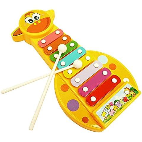 Toraway La manera del bebé del instrumento musical de 8 notas de piano de dibujos animados de Knock ciervos sabiduría juguete