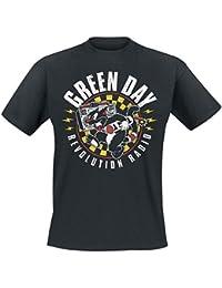 Green Day Revolution Radio - Checker Cat T-shirt noir
