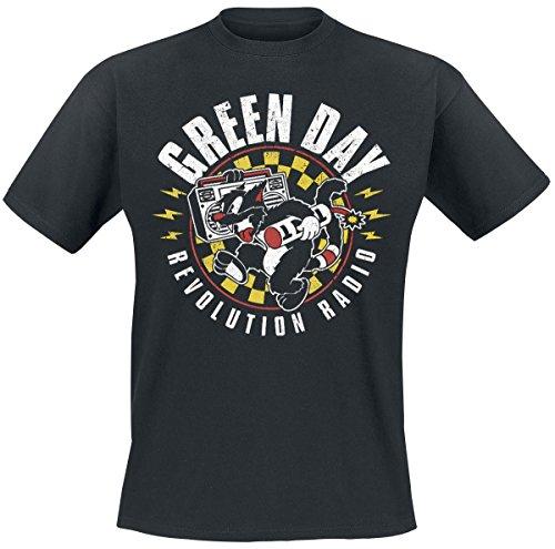 Green Day Revolution Radio - Checker Cat T-Shirt schwarz XL