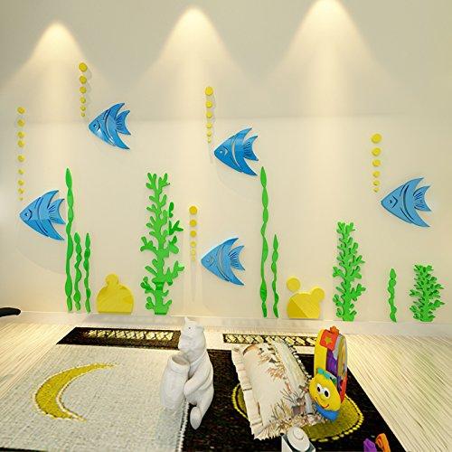 RUIPENGPENG Wandbild zitat Aufkleber Aufkleber wasserdicht Abnehmbare für Wohnzimmer TV Hintergrund Kinder Baby Nursery Aufkleber warmen und vollen Haus Kirschbaum bett zimmer Wand Dekor, Liebe, König -