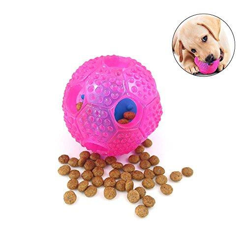 Leegoal Pelota de limpieza de dientes perro, juguetes de pelota de masticar para perros, dispensador de alimentos, bola de tratamiento para perros pequeños y medianos