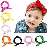 trendyline® 8mignon bébé avec bandes Bandeaux Cheveux Bébé Fille Lapin Noeud Turban Bandeau pour les enfants