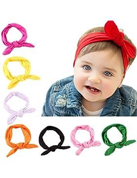 Bandas para la Cabeza Niña SWEETBB Bandas Cabeza Turbante Anudada para los Recién Nacidos - 8 Paquete