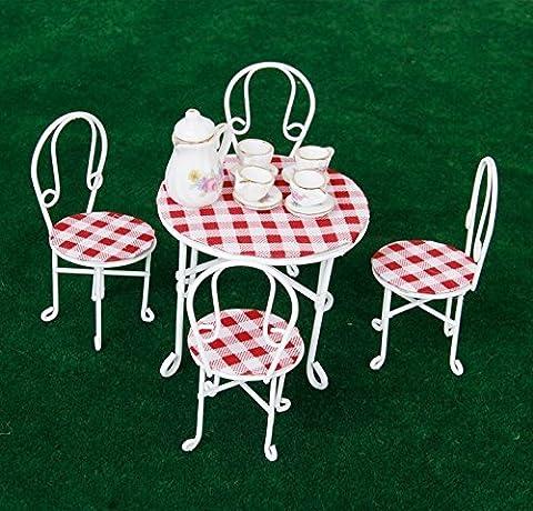 foopp 1/12Puppenhaus Miniatur Möbel Tisch Stühle Set