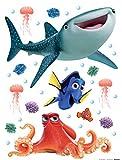 Alla Ricerca Di Dory - Dory, Hank, Destiny & Nemo, Disney Sticker Adesivo Da Parete (30 x 30cm)