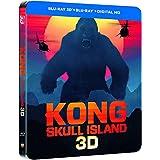 Kong Skull Island Steelbook Blu-ray 3D + Blu-ray Limited Edition Bluray Steelbook Blu-ray Region Free