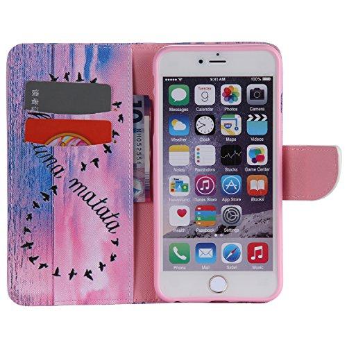PU Cuir Coque Strass Case Etui Coque étui de portefeuille protection Coque Case Cas Cuir Swag Pour Apple iPhone 6 (4.7 pouces) +Bouchons de poussière (4HS) 1