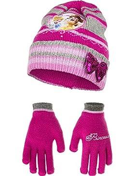 Principesse Disney set cappello + guanti Bambina taglia unica da 2-5 anni