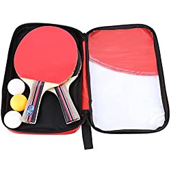 2Pcs Álamo Madera Tabla De Tenis De Mesa Ping Pong Bate Con Juego De Bolas Y Raqueta