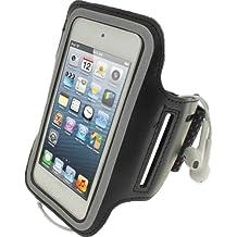 igadgitz Negro Brazalete Antideslizante Deporte Gymnasio Jogging para Apple iPod Touch 6G 6th Generación (Julio 2015) & 5G 5th Generación (2012-2015)