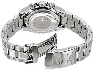 Invicta 14381 - Reloj cronógrafo de cuarzo para hombre, con correa de acero inoxidable, color plateado de Invicta