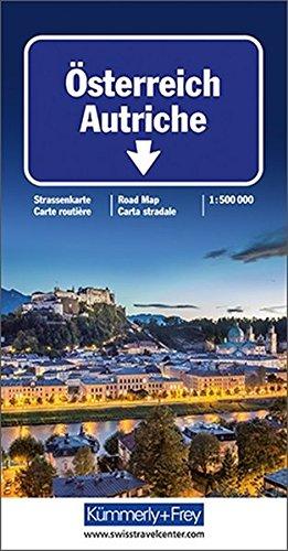 Carte routière et touristique : Autriche