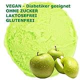 Grüner Apfel Geschmack Eispulver VEGAN - OHNE ZUCKER - LAKTOSEFREI - GLUTENFREI - FETTARM, auch für Diabetiker Milcheis Softeispulver Speiseeispulver Gino Gelati (Grüner Apfel, 1 kg)