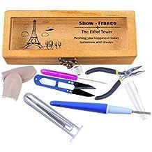 Seawhisper® 1 Juego de Herramientas de Fieltro Alicates Punzón Protectores de dedo Dedal Tijeras de