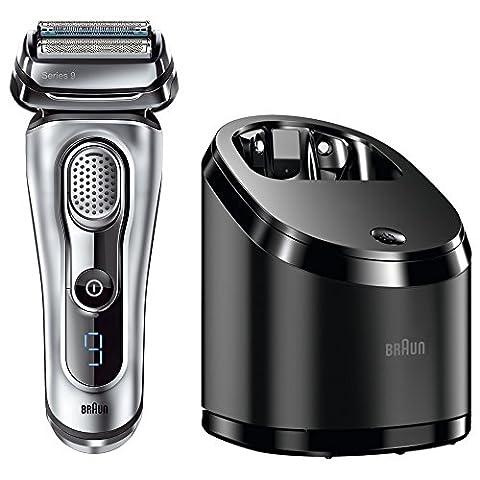 Braun Series 9 Elektrischer Rasierer 9090cc, mit Reinigungsstation Clean&Charge,