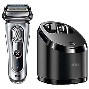 Braun Series 9 Elektrischer Rasierer 9090cc, mit Reinigungsstation Clean&Charge, silber