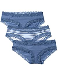 Iris & Lilly Body Natural Hipster, Bragas para Mujer, Pack de 3
