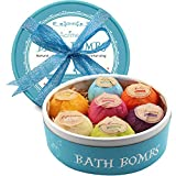 Aofmee Bath Bombs Gift Set, 7pcs Fizzies Spa Kit Perfect for Moisturizing Skin, Birthday Valentines Mothers Day Anniversary Christmas Best Gifts Ideas for Women, Mom, Girls, Her, Kids