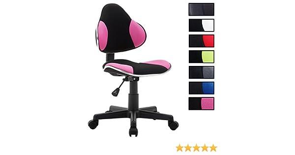 Idimex chaise de bureau pour enfant alondra fauteuil pivotant avec