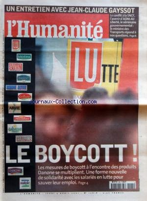 humanite-no-17618-du-05-04-2001-entretien-avec-jean-claude-gayssot-le-boycott-a-lencontre-des-produi