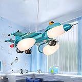 Sala creativo per bambini aereo lampade a sospensione, lampade a sospensione LED, luci del pendente cartone animato, bambini Lampade a sospensione, lampade a sospensione ferro