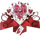 Second Nature - Tarjeta tridimensional de San Valentín, diseño de flores y corazones y texto en inglés'You're Special to Me'.