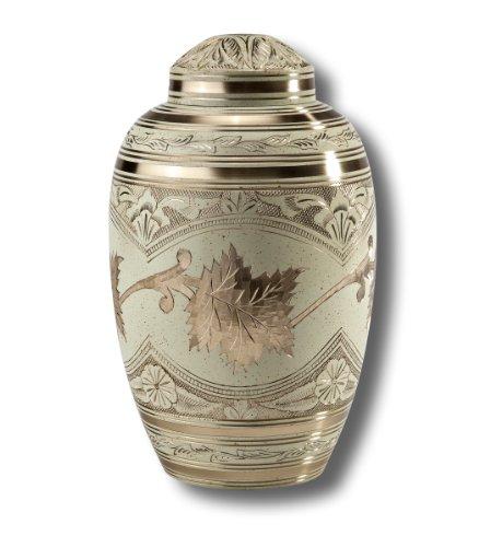 Legacy Urn (Star Legacy Blattgold Messing mit Samtbeutel Urne, groß/Erwachsene)