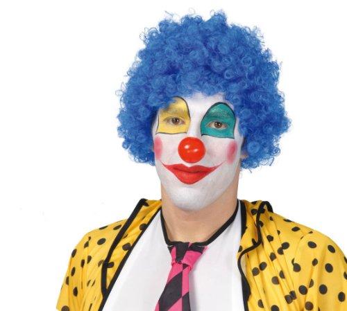 Parrucca clown azzurra economica