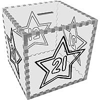 Preisvergleich für Azeeda Groß '21 Stern' Klar Sparbüchse / Spardose (MB00051306)