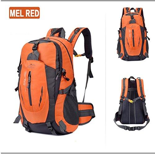 LQABW Männer Und Frauen Mountaineering Außen Wandern Schulter-Spielraum-wasserdichten Outdoor-Paar-Tasche Backpack55L Orange