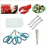 CS creative Startu Seafood Tools set 3PC 8 aragosta granchio forbici 3PC, cucchiaio e forchetta, coltello per ostriche 1PC) Confezione da 8