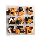Halloween lettres de l'alphabet Fondant Moule en silicone Réutilisable non toxique gâteau au chocolat Gelée, bonbons, Lollipop Moule à décorer
