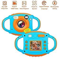 Appareil Photo Enfants Kids Digital Caméra1080P Caméras pour Enfants avec 1,77 HD Caméscope à écran Couleur
