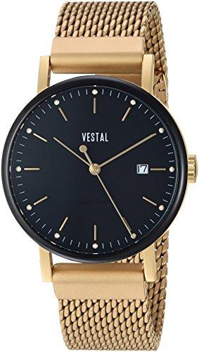 Vestal 'Sophisticate 36 Metal' Swiss Quartz Stainless Steel Dress Watch, Color:Gold-Toned (Model: SP36M13.MGDM)