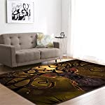 EU-VV Carpet Rugs Super Soft Modern Maze and Football Living Room Bedroom for Kids Play Solid Home Decorator Floor Mat