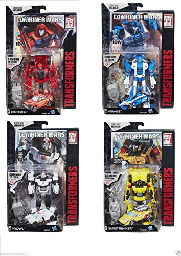 TRANSFORMERS COMBINER WARS DELUXE IRONHIDE MIRAGE PROWL SUNSTREAKER SET