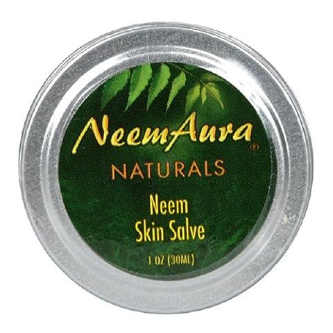 Neemaura Naturals Neem Skin Salve, 1 oz (30 ml) (Pack of 4) by NeemAura Naturals