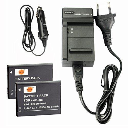 DSTE 2-pacco Ricambio Batteria + DC142E Caricabatteria per Samsung EB-F1A2GBU EK-GC100 Moblie i9050 i9108 i9100 i9103 i9188 i9100g Galaxy S2 S1
