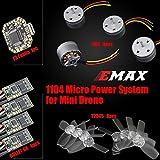 EMAX F3 Flight Controller+ Brushless Motor RS1104 5250KV + 3 Blades Propeller T2345BN + ESC 6A BLHeli_S + Power System Kit für Mini FPV Racing Drone Quadcopter Kit 70 80 90 100