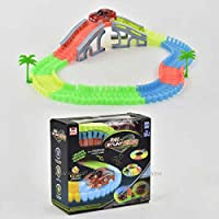 LittleBuddy Magic Race Tracks-Flexible and Bendable Glow in Dark Race Twister Track Set Toy with LED Lights Racing Car…