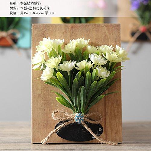 KIKIXI Kleine, Frische Blumen Holz Werk Wandmalereien Dreidimensionalen Simulation Kreative Wohnzimmer Wanddekoration Anhänger Blumen Hintergrund, Xue Lian Bai (Lian Bai)