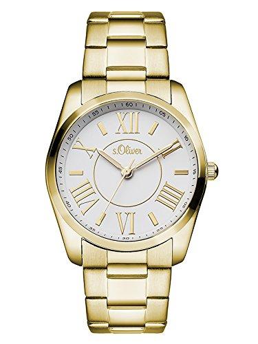 s.Oliver Damen-Armbanduhr Analog Quarz Edelstahl SO-3086-MQ