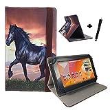 Aldi Medion Lifetab S10346 / S10333 Pferd Tablet Hülle Tasche mit Standfunktion - Pferd Design 10.1 zoll