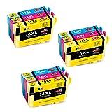 JIMIGO 16 XL 16XL Druckerpatronen Ersatz für Epson 16 Tintenpatronen Kompatibel mit Epson Workforce WF-2630 WF-2660 WF-2760 WF-2510 WF-2750 WF-2540 WF-2530 WF-2010 WF-2650 WF-2630WF WF-2660DWF