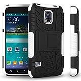 Pour Samsung Galaxy S5 Mini (4,5 Pouces)(Non Compatible Avec Normales S5) Coque ZeWoo Étui Antisismique en Silicone TPU Housse Antidérapante Protecteur Doublé - HH003 / Noir & Blanc