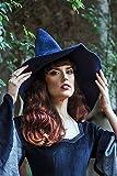 Sombrero de bruja azul de lana, Carnaval Halloween