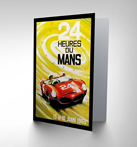SPORT AD MOTOR RACE LE MANS 24 HOUR SPEED CAR CLASSIC GREETINGS CARD CP1270 (Classic Car Motor Oil)