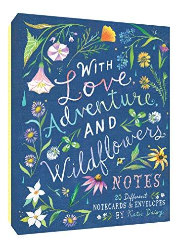 With Love, Adventure, and Wildflowers Notes: 20 Different Notecards & Envelopes (Schreibwaren Grußkarten)