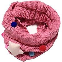 84ae1870a24 GXY - Écharpe mignon pour enfant et bébé Laine tricotée Tour de cou Foulard  Étoile Collier