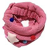 GXY - Écharpe mignon pour enfant et bébé Laine tricotée Tour de cou Foulard Étoile Collier chaud d'automne et d'hiver pour 2-14 Ans Enfants (rose rouge)